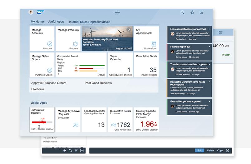 SAP Fiori UI kit - Dashboards - Justinmind
