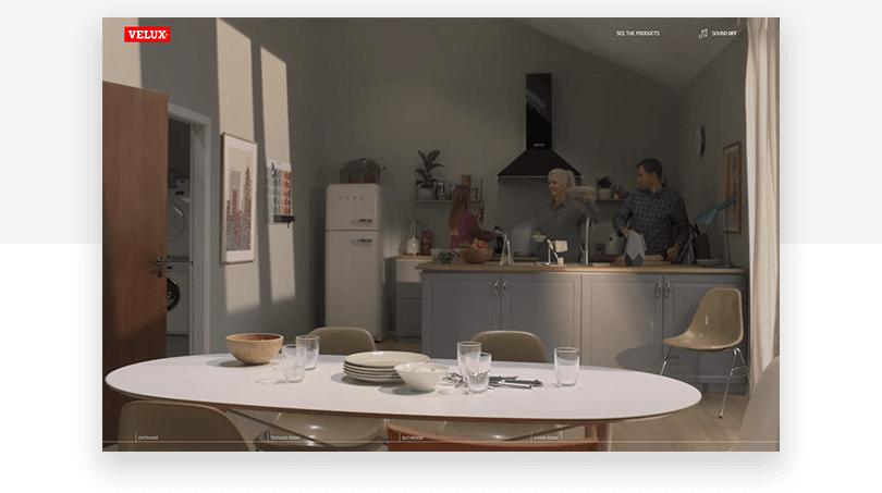 Velux Windows - web design trends 2019 - Justinmind