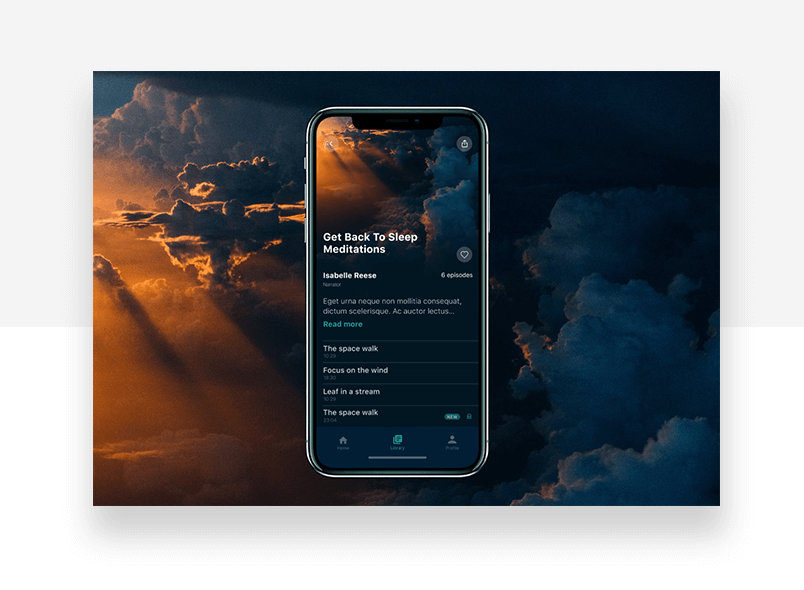 Graphic backgrounds example - full screen image of sky