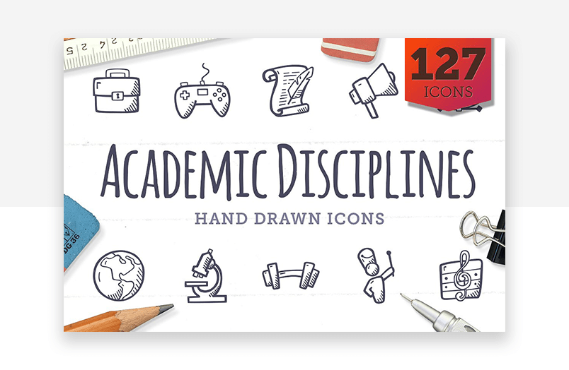 Website icons for education, learning and academic UX design