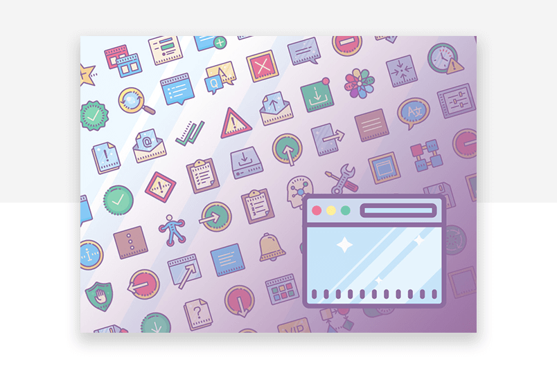 Colorful website icons - UI design