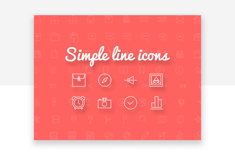 Simple line - free minimalist website icons