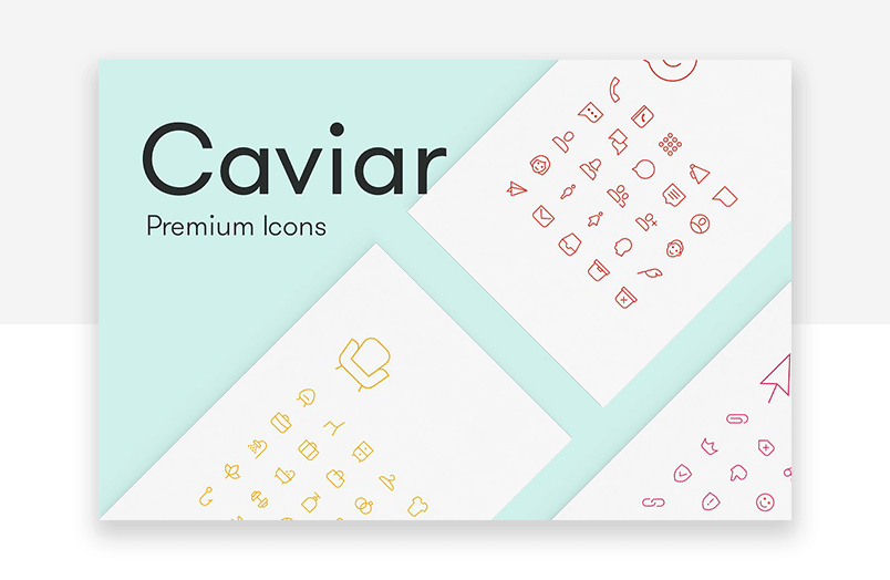 Minimalist and simple website icons - caviar