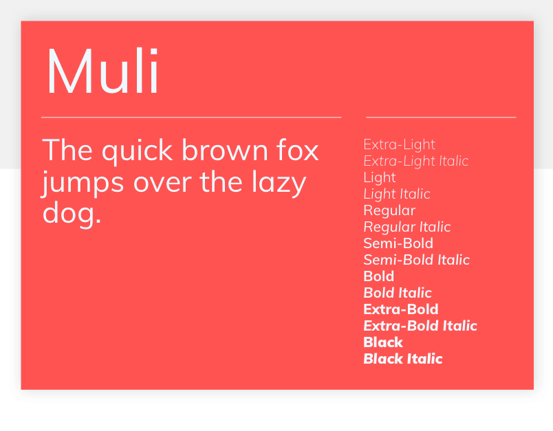 Muli - 15 best Google Fonts for your website - Justinmind