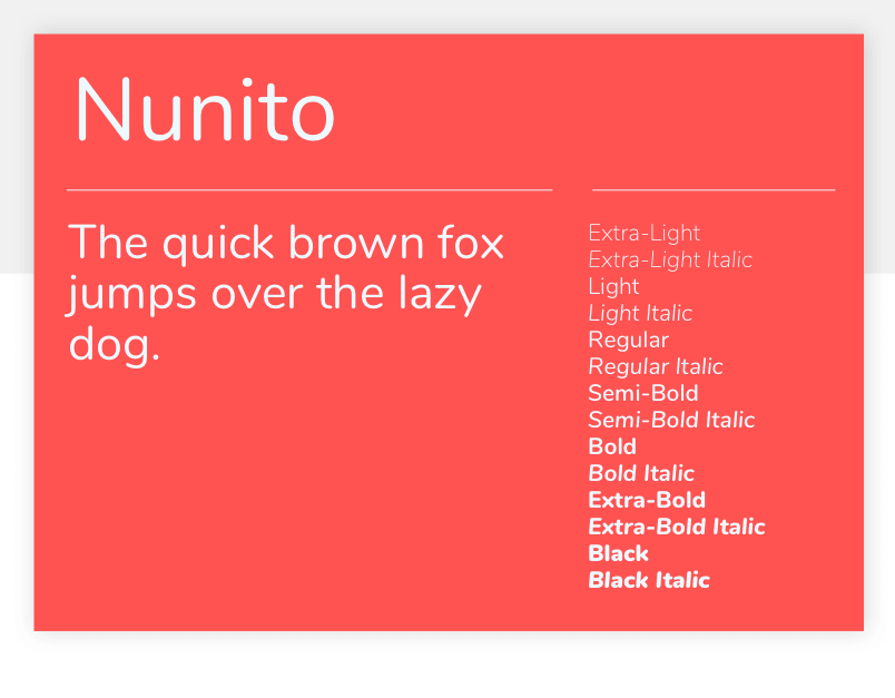 Nunito - 15 best Google Fonts for your website - Justinmind