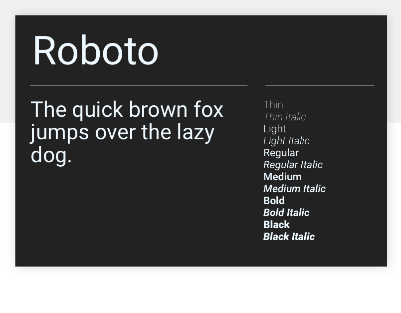 Roboto - 15 best Google Fonts for your website - Justinmind