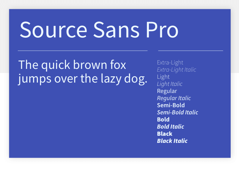 Source Sans Pro - 15 best Google Fonts for your website - Justinmind