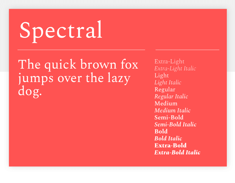 Spectral - 15 best Google Fonts for your website - Justinmind