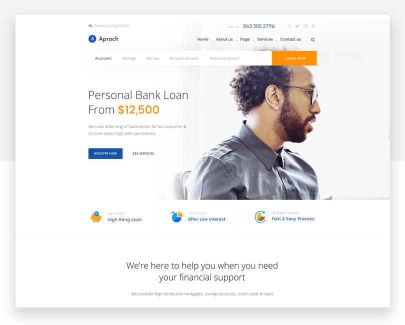 Aproach - responsive website mockup template - Justinmind