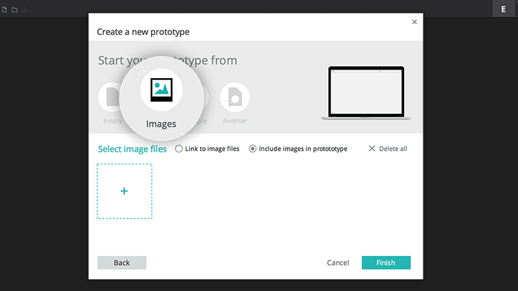 Create a prototype from an image