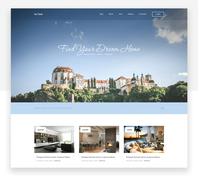 La Casa - free responsive website mockup template - Justinmind