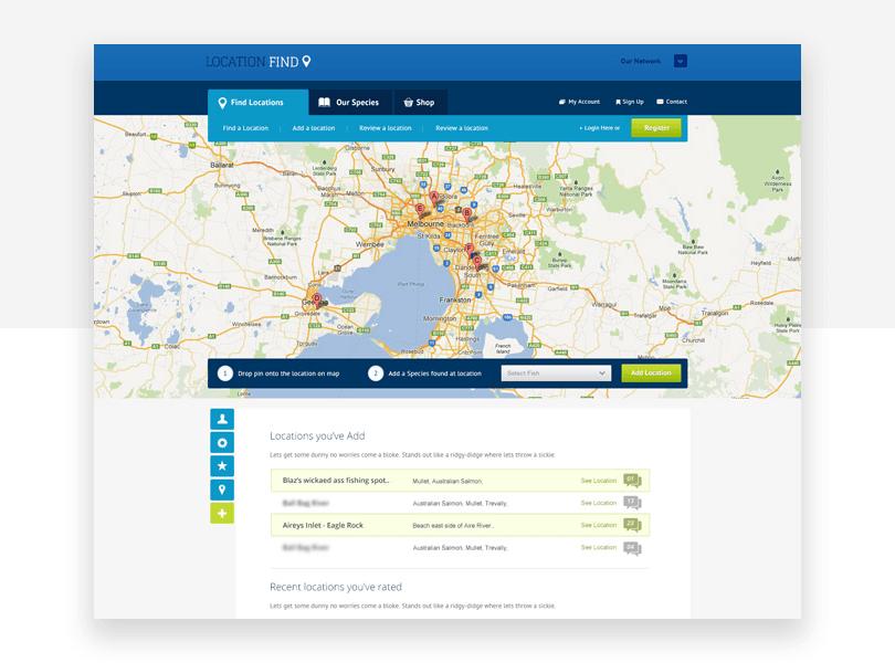 Location Find - free responsive website mockup template - Justinmind