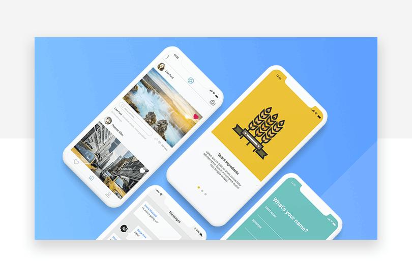 Mobile Mockups - 50 free app design resources - Justinmind
