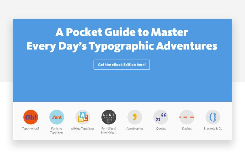 Typography Pocket Guide - 50 free app design resources - Justinmind