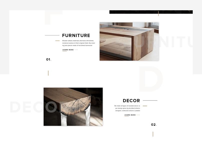 Wooder - free responsive website mockup template - Justinmind