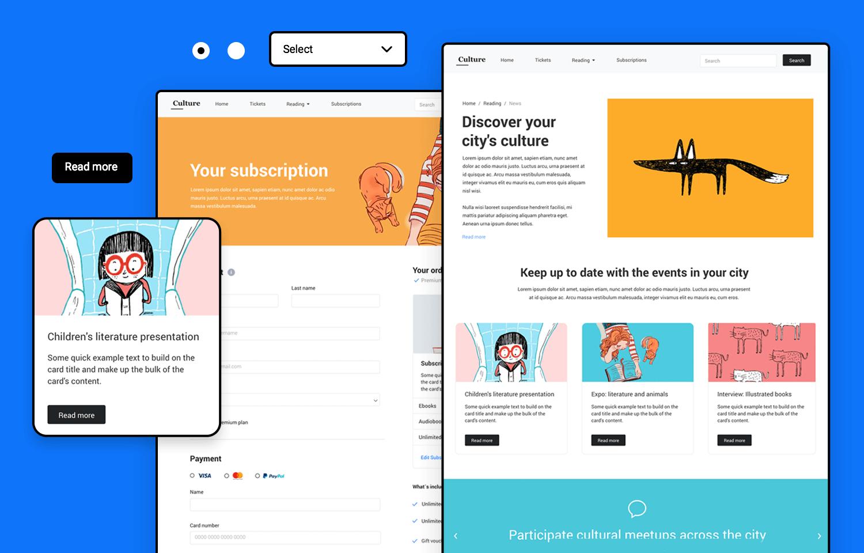 Header image for Bootstrap UI kit - Justinmind