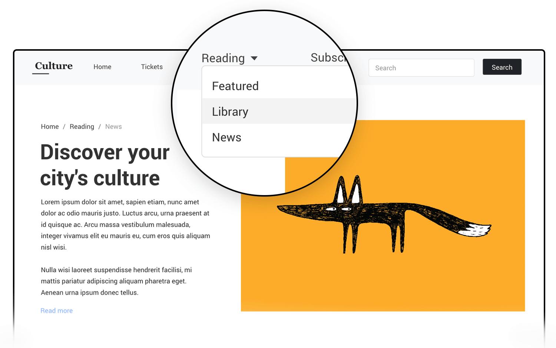 Bootstrap UI kit - navbar - Justinmind