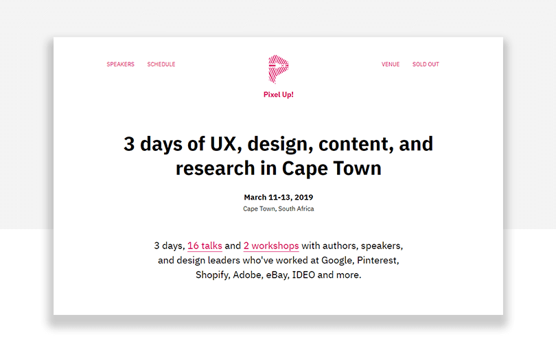pixel up! - ux conference in cape town - south africa