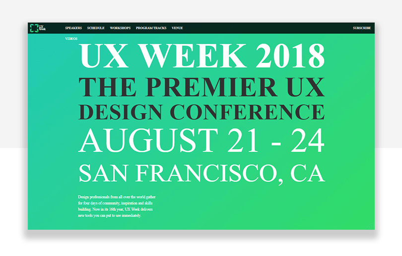 UX conference - UX week in san francisco