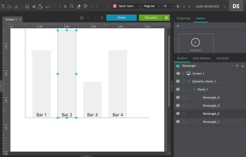 Bar chart using basic widgets