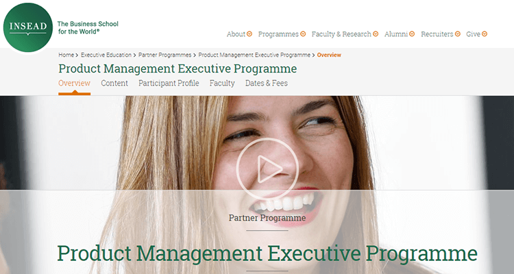 In-class product management course - INSEAD, Europe