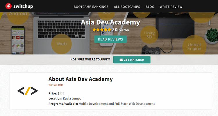 In-class app development course - Asia Dev Academy