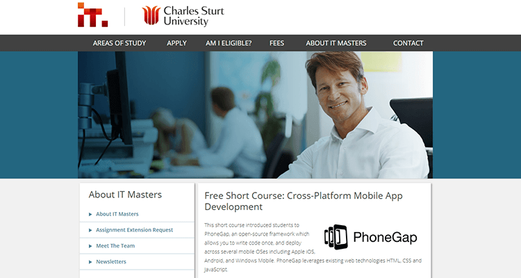 In-class app development course - Charles Sturt