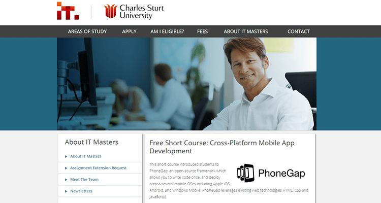 In-class app development course - Charles Sturt