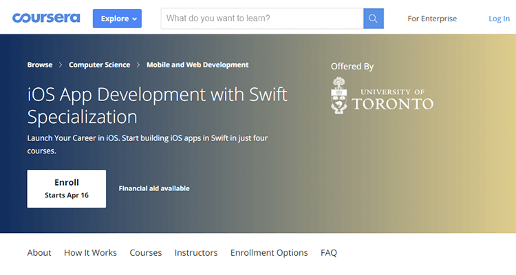 Online app development course - Coursera (iOS App Development)