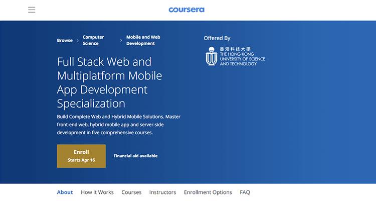 Online app development course - Coursera (Mulitplatform App Development)