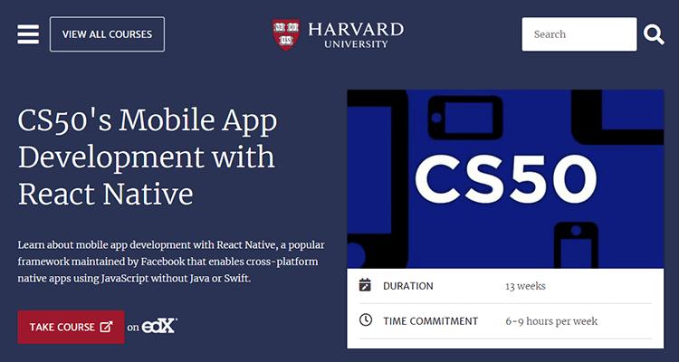 Online app development course - edX (Harvard)