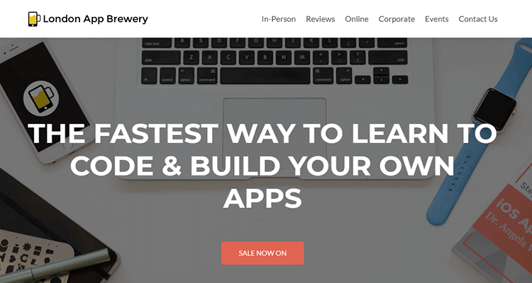 In-class app development course - London App Brewery