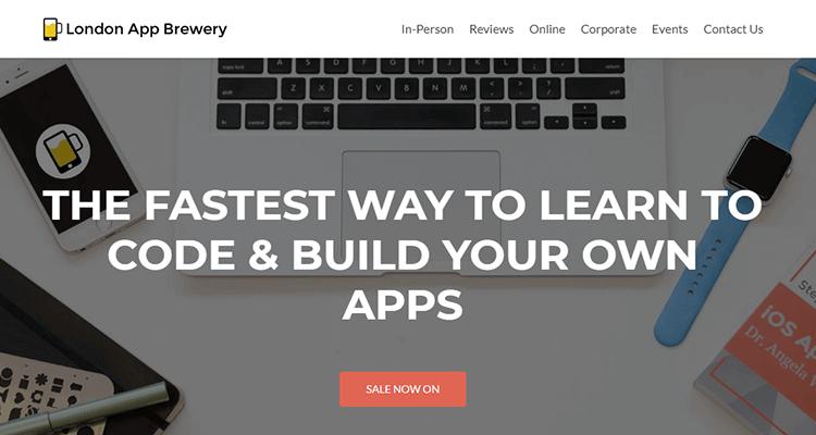 In-class app development course - London App Brewery