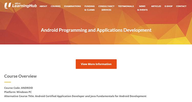 In-class app development course - NTUC Learning Hub