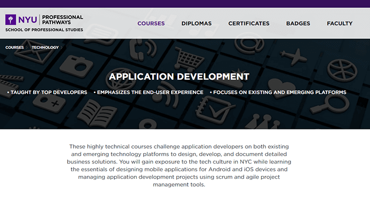 In-class app development course - NYU Stern