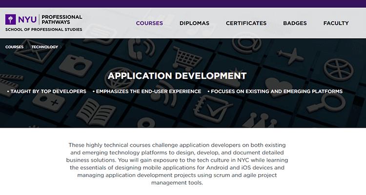 In-class app development course - NYU Stern