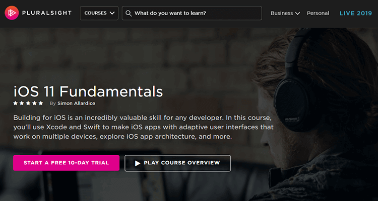 Online app development course - Pluralsight