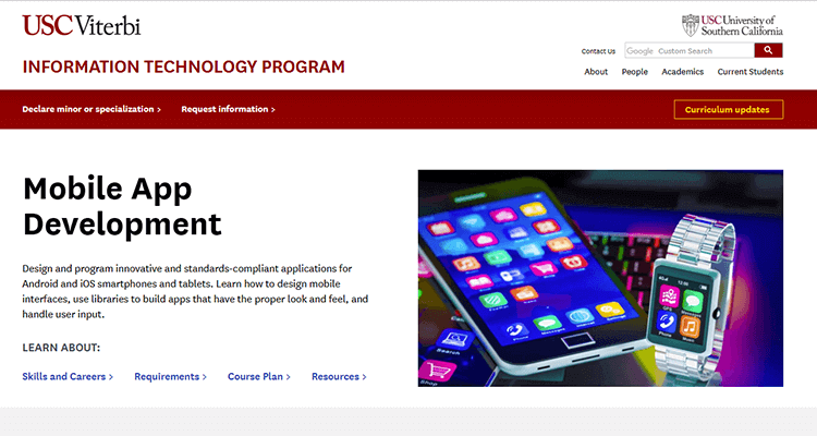 In-class app development course - USC