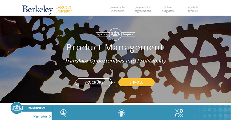 In-class product management course - Berkeley, US