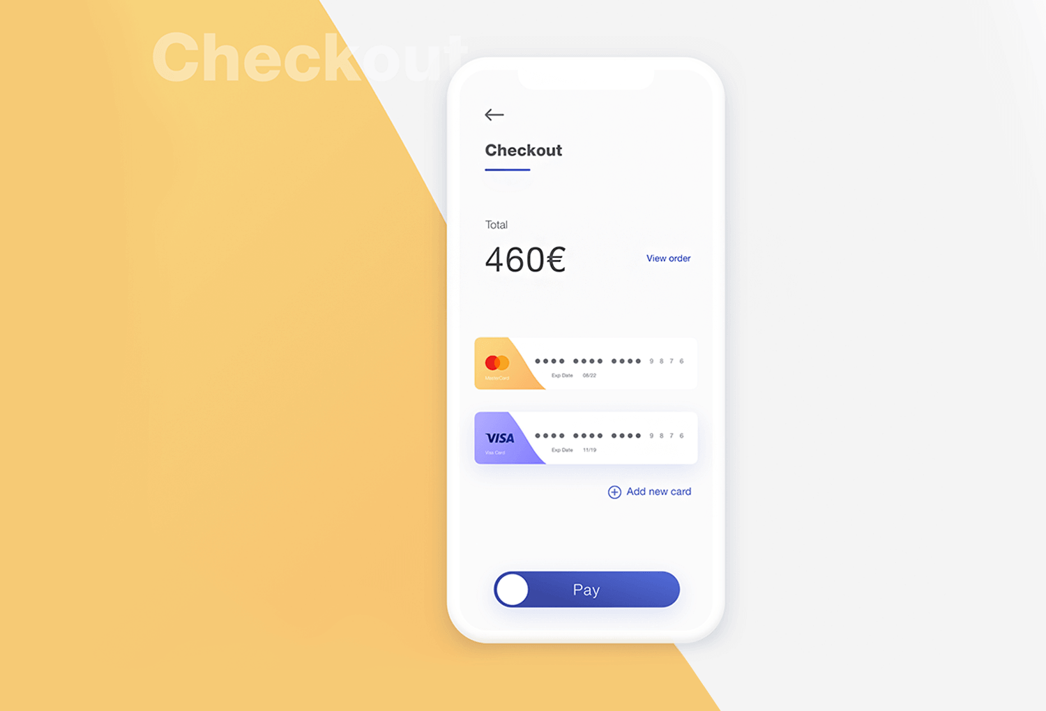 form example of checkout screen