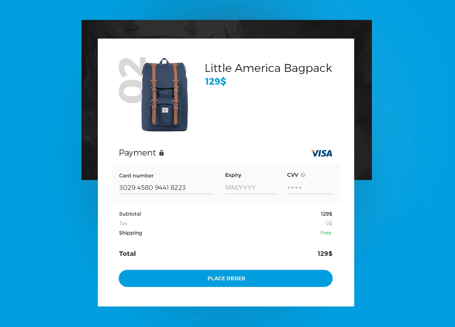 showcasing form example of effective checkout