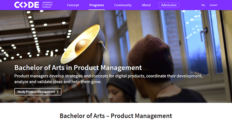 In-class product management course - Code University, Europe