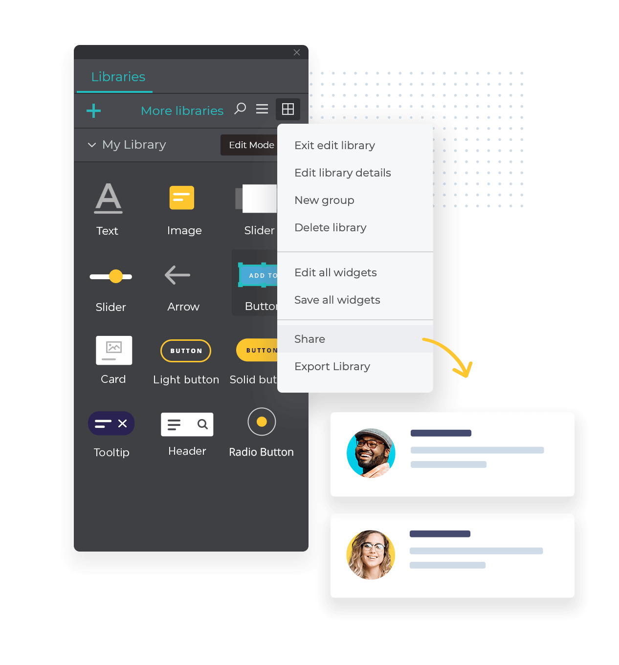 Share and synchronize UI kits