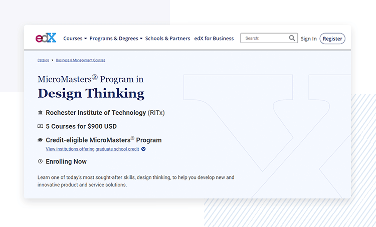 design thinking course at rochester institute of technology