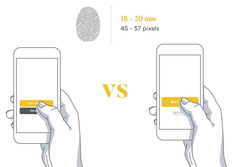 how to make a finger friendly app form design