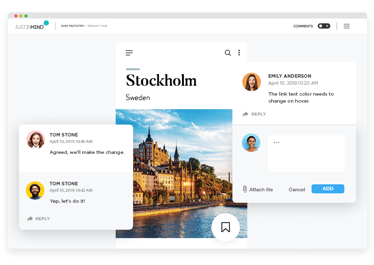 Better cross-team collaboration when you create your PSD mockups in Justinmind