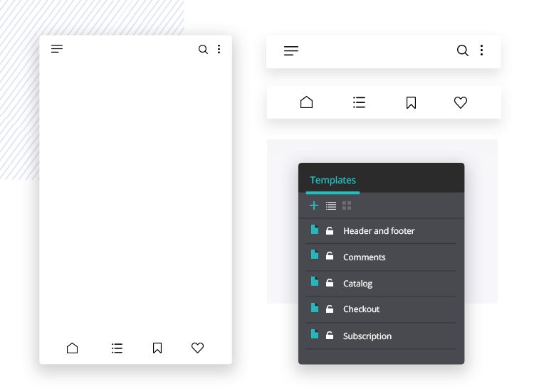 Create your own styles and layouts for your PSD mockup in Justinmind