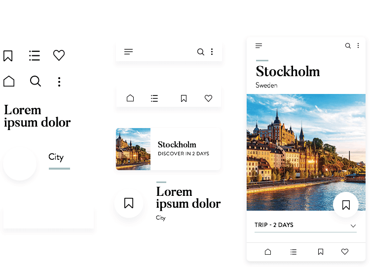 Create your PSD mockups using a design system in Justinmind
