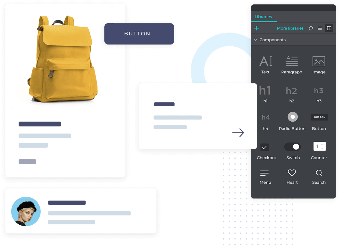 Free UI components for web, iOS and Android app prototyping
