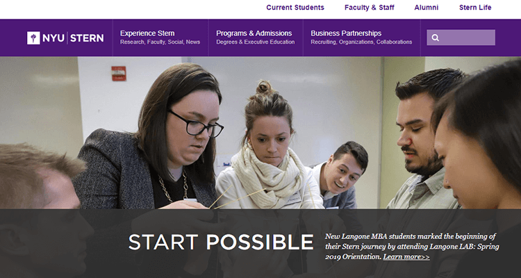 In-class product management course - NYU Stern, US